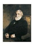 Portrait of Ivan Sergueievich Turgenev Posters by Ilya Yefimovich Repin