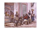 Black Slaves Buying Tobacco Giclee Print by Jean Baptiste Debret