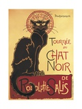 Poster for 'Chat Noir Cabaret' Founded by Rodolphe Salis Prints by Théophile Alexandre Steinlen