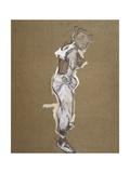 Trapeze Artist Dressing Print by Henri de Toulouse-Lautrec