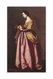 St. Dorothy Print by Francisco de Zurbaran