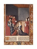 Holy Roman Empress before Louis the Stammerer Kunstdrucke von Antoine Verard