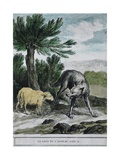 The Wolf and the Lamb Prints by Jean-Baptiste Oudry