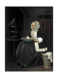 Young Girl at Work Posters by Gabriel Metsu