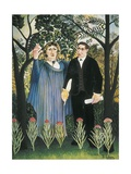 Muse Inspiring the Poet Giclee Print by Henri Rousseau