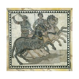 Roman Circus Scene, Auriga with Palm, Symbol of Victory Posters