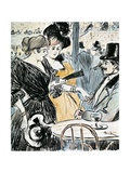 Cafe with Entertainment Giclee Print by Théophile Alexandre Steinlen