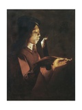 The Young Smoker Prints by Georges de La Tour