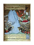 The Qu'Ran Is Revealed to Muhammad by Angel Gabriel During a Battle Premium Giclee Print