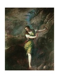 Saint Margaret Plakater af Titian (Tiziano Vecelli)