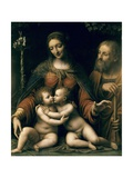 The Holy Family with the Infant St Print by Bernardino Luini