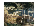Soller Harbor Prints by Santiago Rusinol i Prats