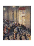 Riot at the Gallery in Front of a Cafe Poster by Umberto Boccioni