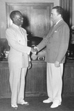 Fbi Director J. Edgar Hoover Shakes Hands with Actor/Dancer Bill 'Bojangles' Robinson Photo
