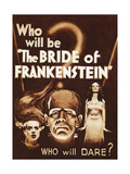 The Bride of Frankenstein Premium Giclee Print