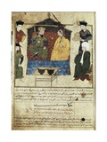 Marriage of Mahmud Ghazan Khan Print by Rashid Al-Din