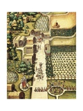 Indian Village of Secoton with Gardens Posters por Theodor de Bry