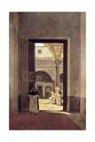 Hallway of a Dominican Convent Giclee Print by Giuseppe Abbati