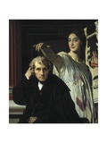 Composer Cherubini and the Muse of Lyric Poetry Giclee Print by Jean-Auguste-Dominique Ingres