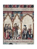 Alfonso X (1221-1284) Surrounded by Musicians and Scribes Posters