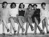 African American Pin-Up Girls at Naval Air Station's Spring Formal Dance During World War 2 Photo