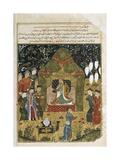Temujin Is Proclaimed Genghis Khan, with Sons Jochi and Ogodei Prints by Rashid Al-Din