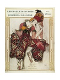 Program of the Russian Ballets Company Premium Giclee Print by Leon Bakst