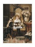 Doddy and Her Pets, 1880S Print by Valentine Thomas Garland