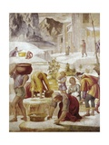 Gathering of the Manna Giclee Print by Bernardino Luini
