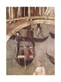Miracle of the Cross on San Lorenzo Channel Posters af Gentile Bellini
