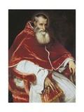 Portrait of Paulus III Plakat af Titian (Tiziano Vecelli)