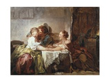 Captured Kiss Reproduction procédé giclée par Jean Honore Fragonard