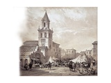 Church of the Omnium Sanctorum at Feria Street and Market Giclee Print by Jenaro Perez Villaamil