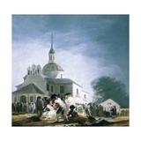 Pilgrimage to the Church of San Isidro Art by Francisco de Goya