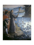 Saint Anthony of Padua Preaching to the Fishes Posters by Bernardo Rodriguez