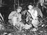 Navajo Indians with a U.S. Marine Signal Unit Photo