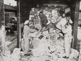 African American Soldiers Loading Trash on a Freight Car During World War 2 Photo