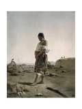 Paraguayan in Her Desolate Mother Land Prints by Juan Manuel Blanes