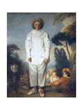 Pierrot (Gilles) Art by Jean-Antoine Watteau
