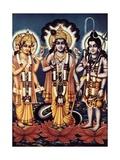 Triad of the Three Major Hindu Gods Prints by B. G. Sharma