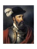 Portrait of Francisco Pizarro Print by Amable Paul Coutan