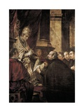 Saint Ignatius of Loyola Receiving Papal Bull from Pope Paul III Giclee Print by Juan de Valdes Leal
