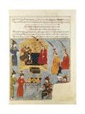 Tolui Khan, Son of Genghis Khan and His Wife Sorghaghtani Beki Posters by Rashid Al-Din
