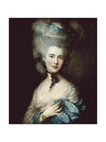 Woman in Blue (Duchess of Beaufort) Posters by Thomas Gainsborough