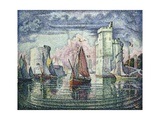 The Port at La Rochelle Gicleetryck av Paul Signac