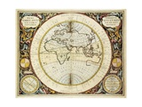 Map of the Old World (Western Hemisphere) 1661 Giclee Print by Andreas Cellarius