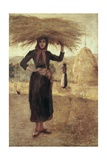 Peasant Woman with Hay Reproduction procédé giclée par Silvestro Lega
