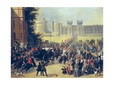 King Louis-Philippe at Windsor Castle, Oct Prints by Edouard Pingret