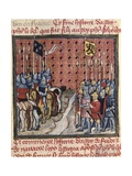 Philip V's Army Meeting Flanders Troops Poster