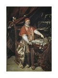 Portrait of Benedict XIV Giclee Print by Giuseppe Maria Crespi